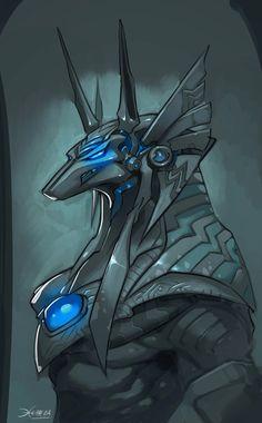 Stargate Anubis Warrior sketch by *el-grimlock on deviantART