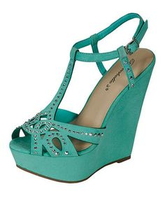 Love this Seafoam Green Ali Wedge Pump on #zulily! #zulilyfinds