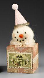 Sweet Felted Snowman