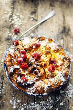 Apple & Raspberry Croissant Cake Recipe