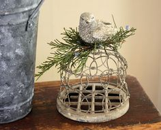 Love this frog turned in to a bird nest.  Really <3 this!!