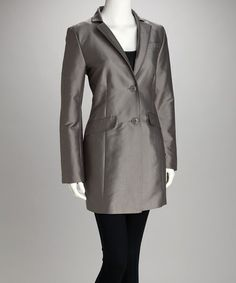 Take a look at this Chrome Two-Button Coat - Women by Kenneth Cole on #zulily today!