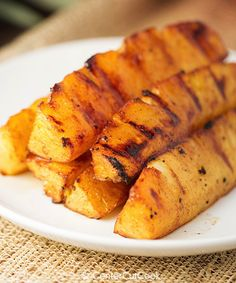 Brown sugar and cinnamon coat spears of pineapple which get grilled to perfection.