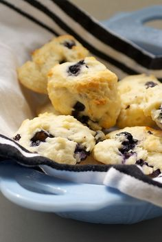 Blueberry Sour Cream Drop Biscuits | Bake or Break