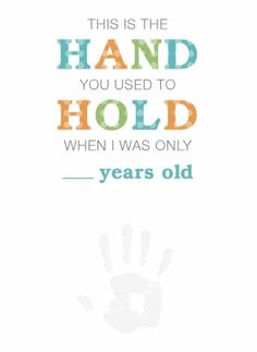 A quick and easy craft for kids to make for Father's Day.  Free printable handprint poem.