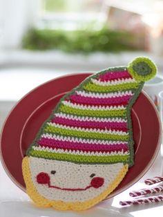 Elf Dishcloth | Yarn | Free Knitting Patterns | Crochet Patterns | Yarnspirations