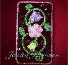 Beaded cellphone case