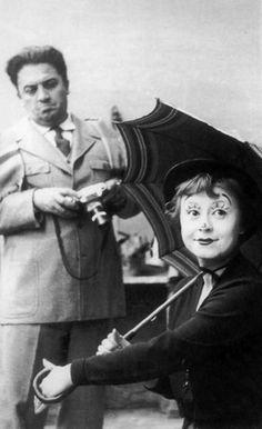 """""""La Strada """" Federico Fellini & Giulietta Masina 1954"""