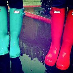 mints, hunter rainboot, rain boot, neon colors, shoe, friend, blues, boots, bright colors