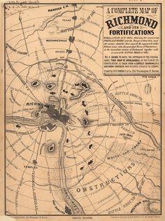 1862 Richmond, Virginia...Civil War battles