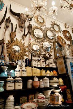Interior of l'Objet qui Parle--an antique shop in Paris,