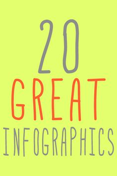20 Great Looking Infographics...love these for design ideas! #graphics #design #fonts