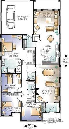 dessins drummond - W3250 Grande maison confortable, 4 grandes chambres, suite des maîtres, dream master suite, grande cuisine avec îlot, foyer au salon, grande sale de séjour et garage double.