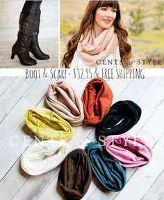 cents of style fall sale, WOW, just WOW this is a great deal, #fashion, #Boots, #Sale BOOT & SCARF- $32.95 & FREE SHIPPING ~ TODAY ONLY #FASHION, #FALL, #CENTSOFSTYLE