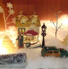 christma villag, drink, christmas villages