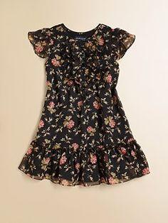 Ralph Lauren - Toddler's & Little Girl's Floral Chiffon Dress