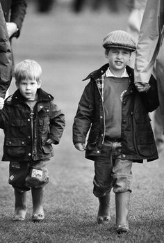 Little Prince William and Harry.