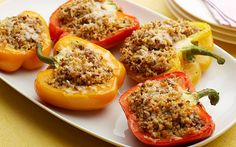 Sweet and Sour Couscous-Stuffed Peppers Recipe by Food Network Kitchens