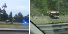 http://www.reddit.com/r/WTF/comments/28otq0/just_passed_the_aftermath_of_a_wreck_on_the/  http://www.reddit.com/r/WTF/comments/28oujw/drove_by_this_fatal_wreck_in_alabama_today/