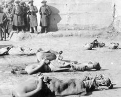 Boxer executions.  Eight Power Allied Forces occupied Beijing during the Boxer Rebellion (1898-1900).  Foreign troops, together with the Qing government yielded to the invaders, together with the foreign troops, executed the Boxers. Power Allied Forces took the opportunity to any looting in Beijing. boxer rebellion