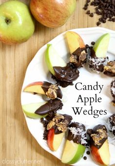 Candy Apple Wedges -