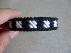 Plastic canvas bracelet