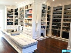Yolanda Foster (Real Housewives of Beverly Hills) Dressing room / closet - wow!  This is my dream closet!!!