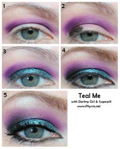 Darling Girl Teal Me Tutorial with Darling Girl and Sugarpill. Pin Now, Play Later! #crueltyfree #teal #blue #purple #beauty #tutorial #makeup #fun