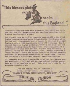 Royal British Legion. 28 June, 1945.