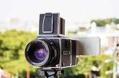 Hasselnuts is an Adapter that Turns Your iPhone into a Medium Format Digital Back for Hasselblad V-System Cameras