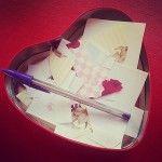 #Manualidad romántica, mensajes de #amor gracias por