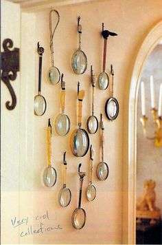 Love this collection of antique magnifying lenses