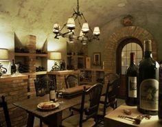 mediterranean wine cellar by Summerour Architects