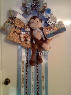 Baby hospital door wreath/hanger