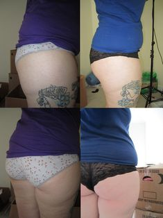 A little inspiration - 30 day squat challenge! Before and After results!