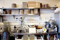 Tartine Bakery kitchen.