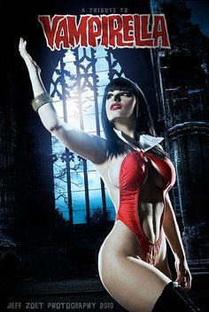 Vampirella cosplay by Jeff Zoet