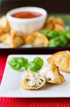 italianstyl wonton, crab rangoon, snack