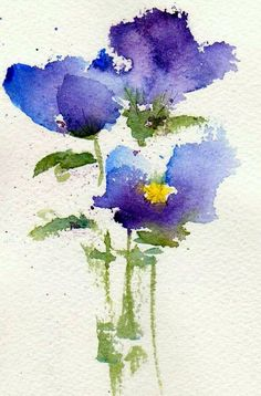 Violets ~ watercolor