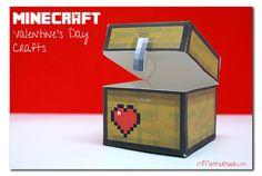 valentine box, minecraft valentin, valentine day, valentin box, valentin idea, boxes, holiday idea, boy, kid