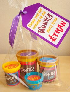 Willy Wonka modeling dough wrapper - DIY Printable Kit - INSTANT DOWNLOAD