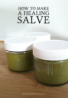 Learn herbalism. How to make a herbal healing salve! #herbs #learnherbs