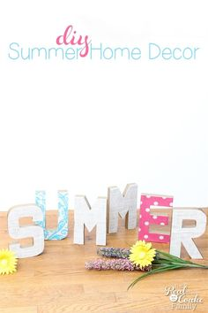 Summer Decoupage Chipboard Letters - Inspiration DIY