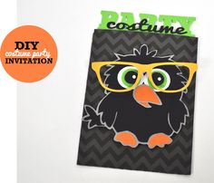 Silhouette Blog: FREE Shape of the week :: a costume party invitation