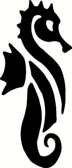 silhouett, seahors, sea horse stencil, svg, appliqu