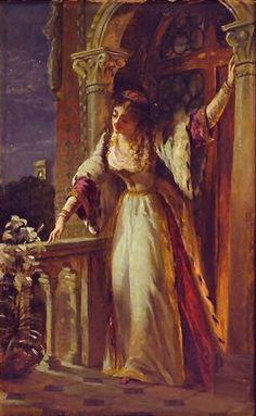 ... is I, be not afraid,Pre Raphaelite oil paintings of Sir Frank Dicksee