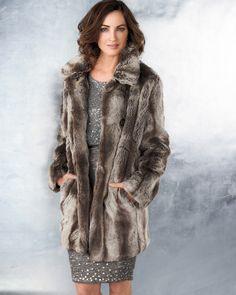 faux fur coat #ColdwaterCreek
