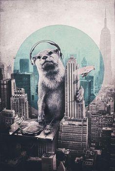 DJ 3 - Mixed Media Artwork by Ali Gulec
