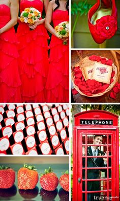 Red Wedding Theme Color.... love this shade of red!