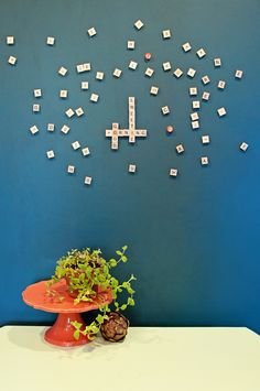 Magnetic Scrabble Wall